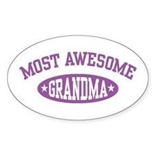 Most Awesome Grandma Oval Decal