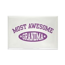 Most Awesome Grandma Rectangle Magnet