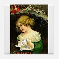 Christmas Hopes Tile Coaster