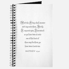 MATTHEW 25:40 Journal