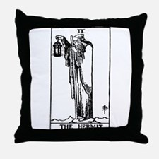 The Hermit Tarot Card Throw Pillow