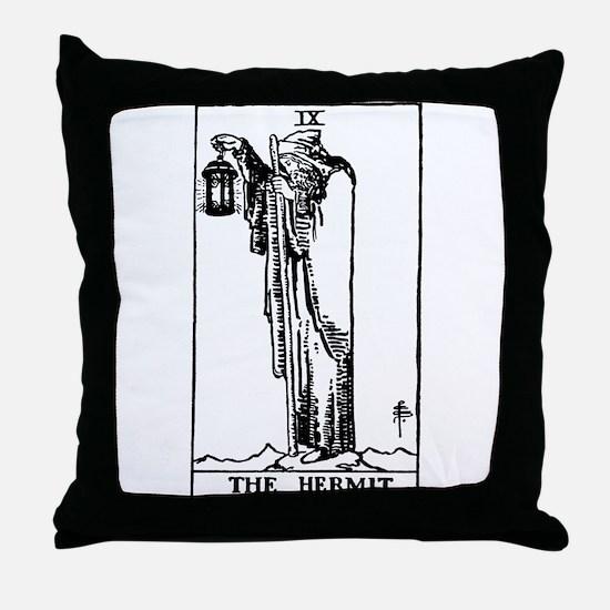 The Hermit Tarot Card Throw Pillow
