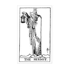The Hermit Tarot Card Rectangle Decal