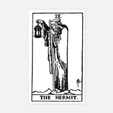 The Hermit Tarot Card Rectangle Decal