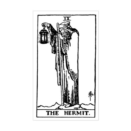 The Hermit Tarot Card Rectangle Sticker