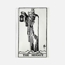 The Hermit Tarot Card Rectangle Magnet