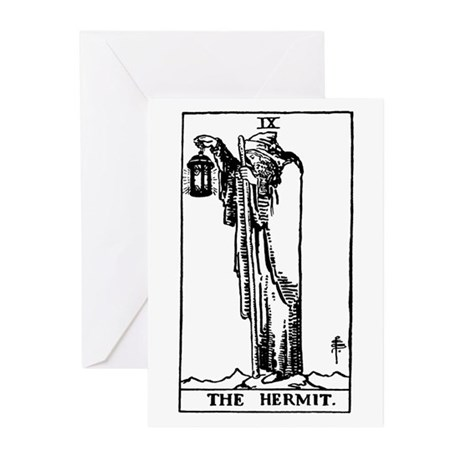 The Hermit Tarot Card Greeting Cards (Pk of 10)