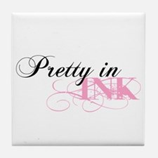 Pretty In Ink Tile Coaster