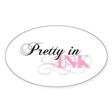 Pretty In Ink Oval Decal