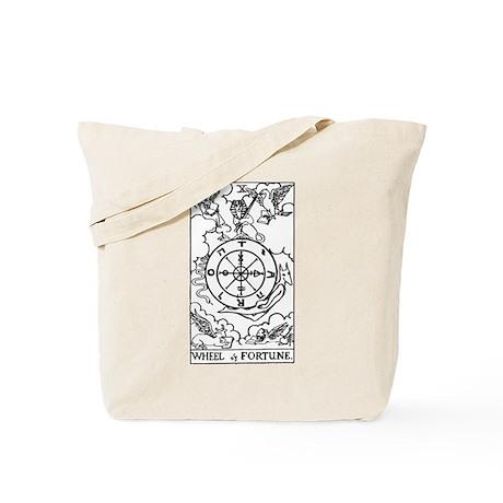 Wheel of Fortune Tarot Card Tote Bag