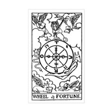 Wheel of Fortune Tarot Card Rectangle Decal