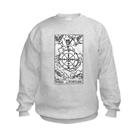 Wheel of Fortune Tarot Card Kids Sweatshirt