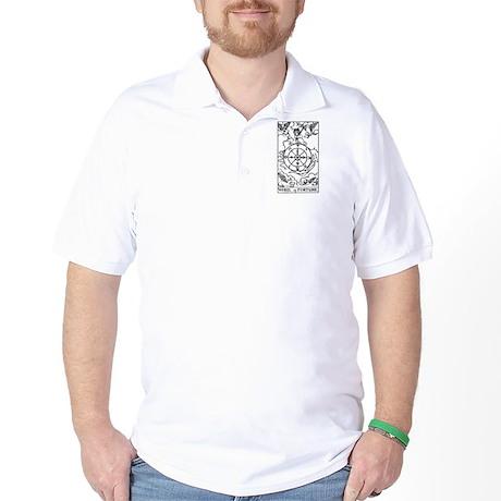 Wheel of Fortune Tarot Card Golf Shirt