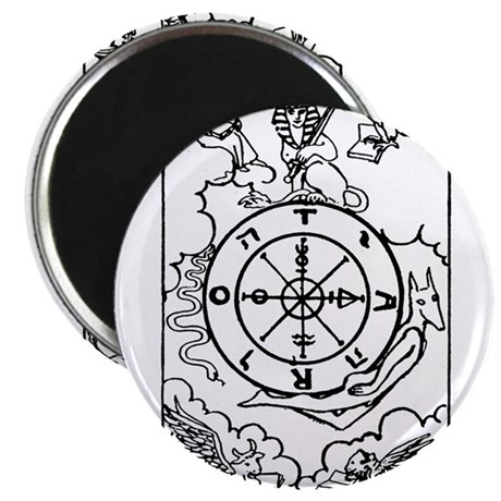 """Wheel of Fortune Tarot Card 2.25"""" Magnet (10 pack)"""