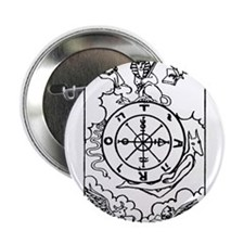"Wheel of Fortune Tarot Card 2.25"" Button"
