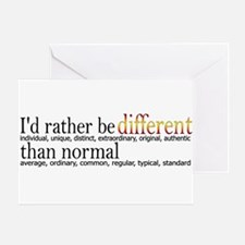 Different - - - Normal Greeting Card