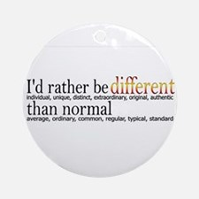 Different - - - Normal Ornament (Round)
