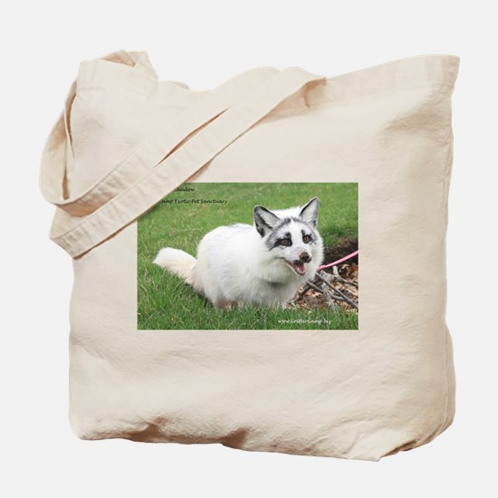 Shadow the Arctic Marble Fox Tote Bag