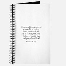 MATTHEW 25:36 Journal