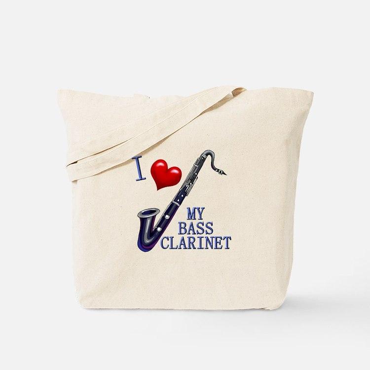 I Love My BASS CLARINET Tote Bag