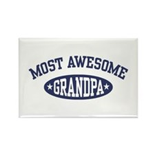 Most Awesome Grandpa Rectangle Magnet