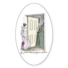 Pride an Prejudice Chapter 56 Oval Decal