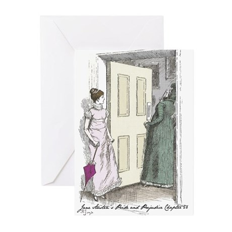 Pride an Prejudice Chapter 56 Greeting Cards (Pk o