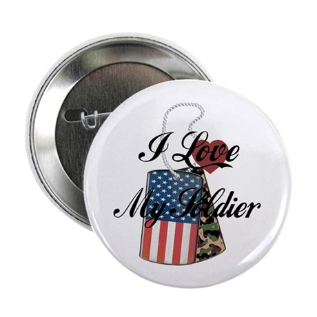 """I Love My Soldier 2.25"""" Button (100 pack)"""