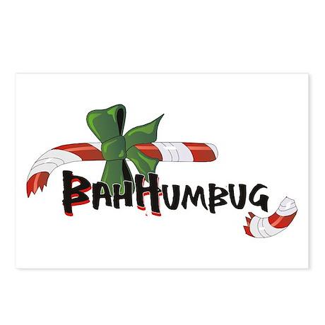 Bah Humbug Broken Candy Cane Postcards (Package of