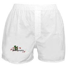Bah Humbug Broken Candy Cane Boxer Shorts