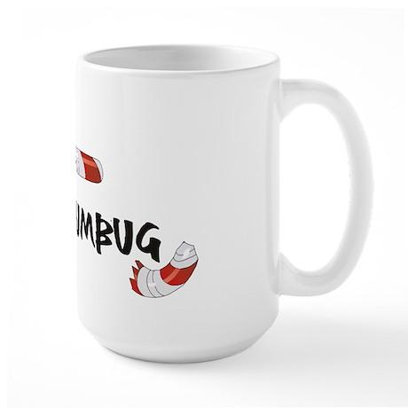 Bah Humbug Broken Candy Cane Large Mug
