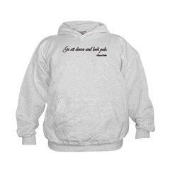 Go Sit Down and Look Pale Twilight Quotes Hoodie