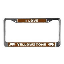 I Love Yellowstone License Plate Frame