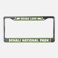 Bears Love Denali National Park License Frame