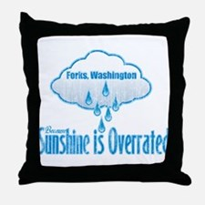 Sunshine is Overrated in Forks Throw Pillow
