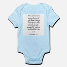 MATTHEW  25:34 Infant Creeper