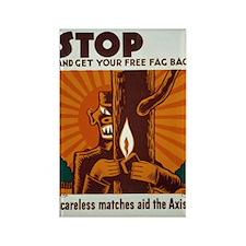 Free Fag Bag WPA Art Rectangle Magnet