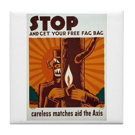 free fag bag wpa art tile coaster by crazylegsgifts