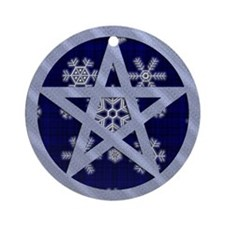 Yuletide Pentagram Ornament (Round)