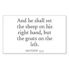 MATTHEW 25:33 Rectangle Decal
