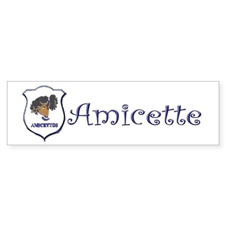 Amicette Curls Bumper Sticker (10 pk)