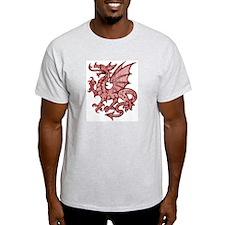 Red Dragon Ash Grey T-Shirt