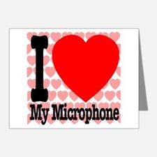 I Love My Microphone Note Cards (Pk of 20)