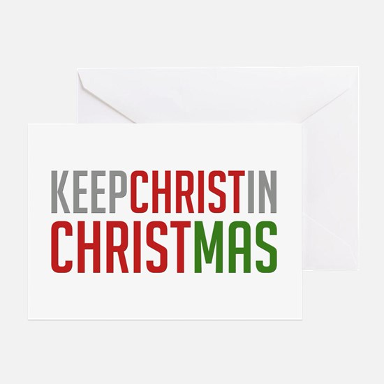 Greeting Card Keep Christ in Christmas