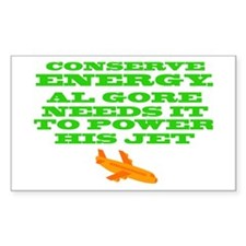 Conserve Energy Al Gore Decal