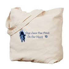 Paw Prints On Our Hearts Tote Bag