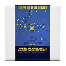 Adler Planetarium Chicago Art Tile Coaster