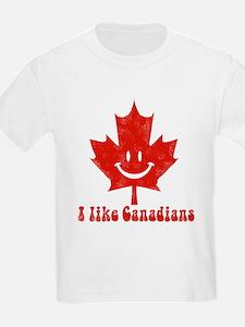 I Like Canadians Kids T-Shirt