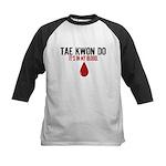 In My Blood (Tae Kwon Do) Kids Baseball Jersey