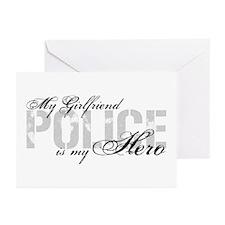 My Girlfriend is My Hero - POLICE Greeting Cards (